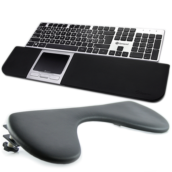 Optapad Extended + Arm Support + Optapad Keyboard