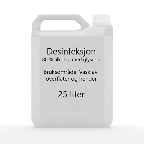 Bilde av 25 liter 80 % Kanne Til Hånddesinfeksjons-stasjon