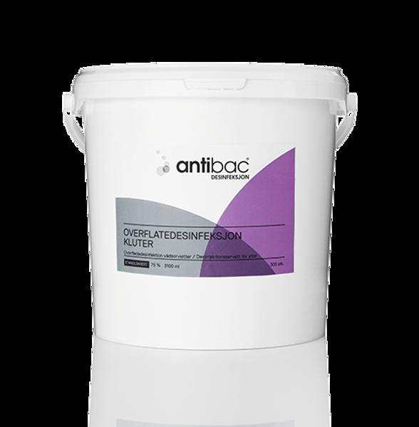 Bilde av Antibac Overflatedesinf. Kluter 75 % - spann a 300 stk.
